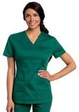 Women's All Day Y-Neck Scrub Tunic Hunter (GHMST) Thumbnail