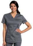 Women's All Day Y-Neck Scrub Tunic Steel (STMST) Thumbnail