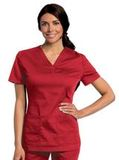 Women's All Day Y-Neck Scrub Tunic True Red (TRMST) Thumbnail