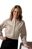 Women's Banded Collar Shirt Sand Thumbnail