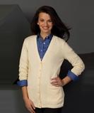 Women's Cardigan Sweater White Thumbnail