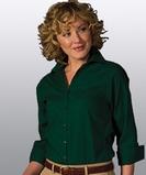 Women's Easy Care Poplin Shirt 3/4 Sleeve Hunter Thumbnail