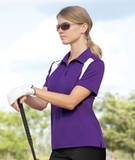 Women's Eperformance Color-block Textured Polo Shirt Thumbnail