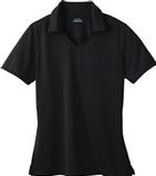 Women's Eperformance Jacquard Polo Shirt Black Thumbnail