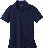 Women's Eperformance Jacquard Polo Shirt Classic Navy Thumbnail