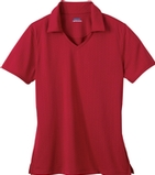 Women's Eperformance Jacquard Polo Shirt Classic Red Thumbnail
