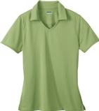 Women's Eperformance Jacquard Polo Shirt Fairway Green Thumbnail