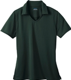 Women's Eperformance Jacquard Polo Shirt Forest Thumbnail