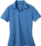 Women's Eperformance Jacquard Polo Shirt Lake Blue Thumbnail