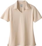 Women's Eperformance Jacquard Polo Shirt Sand Thumbnail
