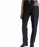 Women's Flat Front 100 Polyester Security Pants Black Thumbnail