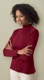 Women's Interlock Mock Neck Long Sleeve Shirt Thumbnail