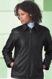 Women's Leather Mid-length Jacket Thumbnail