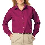 Women's Long Sleeve Easy Care Poplin Berry Thumbnail