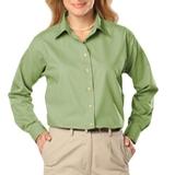 Women's Long Sleeve Easy Care Poplin Cactus Thumbnail
