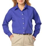 Women's Long Sleeve Easy Care Poplin French Blue Thumbnail