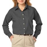 Women's Long Sleeve Easy Care Poplin Graphite Thumbnail