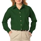 Women's Long Sleeve Easy Care Poplin Hunter Thumbnail