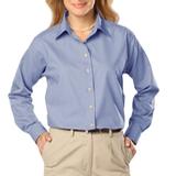 Women's Long Sleeve Easy Care Poplin Light Blue Thumbnail