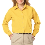 Women's Long Sleeve Easy Care Poplin Maize Thumbnail
