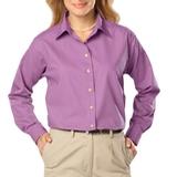 Women's Long Sleeve Easy Care Poplin Mulberry Thumbnail