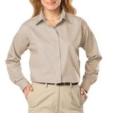 Women's Long Sleeve Easy Care Poplin Natural Thumbnail