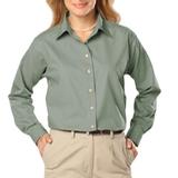 Women's Long Sleeve Easy Care Poplin Sage Thumbnail
