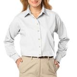 Women's Long Sleeve Easy Care Poplin White Thumbnail