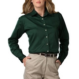 Women's Long Sleeve Teflon Treated Twill Shirt Hunter Thumbnail