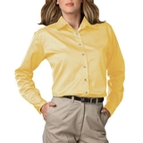 Women's Long Sleeve Teflon Treated Twill Shirt Maize Thumbnail