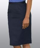 Women's Microfiber Straight Skirt Tan Thumbnail