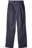 Women's Misses Pleated Front Utility Chino Pant Navy Thumbnail