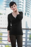 Women's Modern Stretch Cotton Cardigan Thumbnail