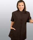 Women's Pincord Housekeeping Tunic Brown Thumbnail