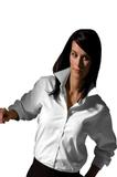Women's Pinpoint Oxford LS White Thumbnail