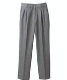 Women's Pleated Poly / Wool Pant Navy Thumbnail
