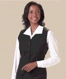 Women's Poly / Wool High Button Vest Navy Thumbnail