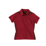 Women's Polyester And Bamboo Two-tone Jacquard Polo Shirt Sport Red Thumbnail