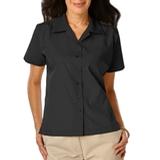 Women's Poplin Camp Shirt Black Thumbnail