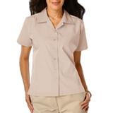 Women's Poplin Camp Shirt Natural Thumbnail