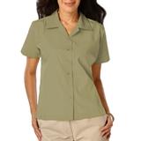 Women's Poplin Camp Shirt Sage Thumbnail