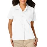 Women's Poplin Camp Shirt White Thumbnail