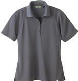 Women's Recycled Polyester Performance Waffle Polo Shirt Black Silk Thumbnail