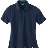 Women's Recycled Polyester Performance Waffle Polo Shirt Night Thumbnail