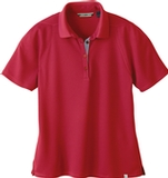 Women's Recycled Polyester Performance Waffle Polo Shirt Olympic Red Thumbnail