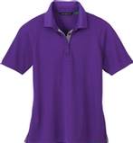 Women's Recycled Polyester Performance Waffle Polo Shirt Pure Violet Thumbnail