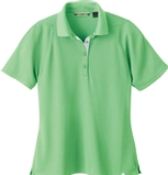 Women's Recycled Polyester Performance Waffle Polo Shirt Spring Green Thumbnail