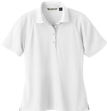 Women's Recycled Polyester Performance Waffle Polo Shirt White Thumbnail