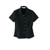 Women's s Poly Stretch Woven Shirt Black Thumbnail