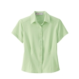 Women's s Poly Stretch Woven Shirt Lime Sherbert Thumbnail